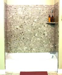 bathroom walls materials solid surface shower wall options material acrylic tub surround panels better bathrooms kids