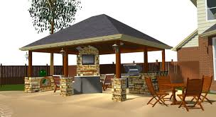 Covered Outdoor Kitchen Plans Covered Outdoor Kitchen Plans Home Design Ideas