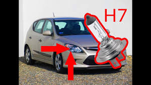 Hyundai I30 Side Light Bulb Replacement Hyundai I30 How To Remove And Replace Headlight