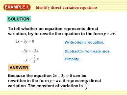 direct variation form direct variation homework help
