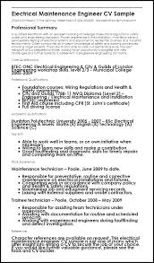Maintenance Tech Resume Sample Engineering Technician Resume Sample Resume For Electrical