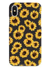Sunflower Pattern Fascinating Sunflower Pattern Black Case InspiredCases