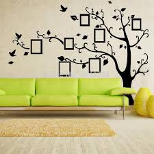 x large photo frame family tree wall decal tree wall sticker photoframe wallpaper kids poster home decoration left facing home decor stickers wall home  on wall art decals family tree with x large photo frame family tree wall decal tree wall sticker