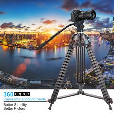 "Heavy Duty Camcorder <b>Tripod</b>, <b>Professional</b> 63"" Aluminum Video ..."