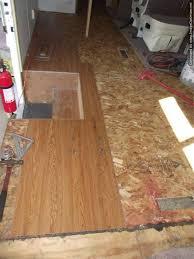vinyl laminate flooring installing it in a motor home