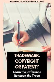 Difference Between Trademark Copyright Patent And Design The Difference Between A Trademark Patent And Copyright