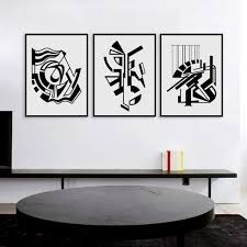 modern minimalist nordic black white symbol a4 large art prints for black and white abstract wall art