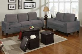 Microfiber Living Room Chairs Bob Kona 5 Piece Livingroom Set In Grey Microfiber Huntington