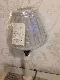 laura ashley silver grey lampshade