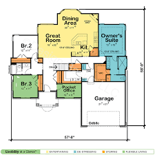 One Story House Plans   Open Floor Plans   Design Basics    One Story Home Plans  Ranch Floor Plans