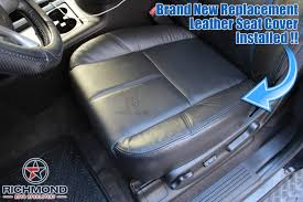 2007 2016 gmc sierra denali leather seat cover driver bottom black