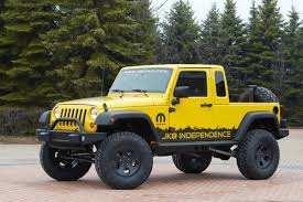 jeep enth usiasts now have the opportunity to transform their 4 door jeep wrangler unlimited into a pickup truck d at 5499 the mopar jk 8 kit is now