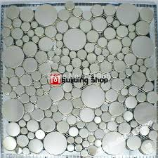 bubble tile backsplash sheet directly from china tile hole suppliers brushed silver metal mosaic penny round bubble tile