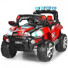 Radio Controlled Led Lights Costway 12v Kids Ride On Truck Car Suv Mp3 Rc Remote Control W Led Lights Music