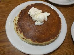 a short stack two pancakes is just 2 on their value menu but i went with the value slam for 4 which includes two pancakes eggs and either two strips