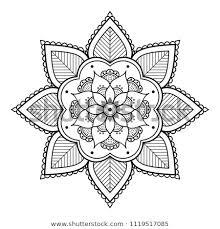 Stock Vektory Na Téma Vector Henna Tattoo Style Hand Drawn Bez