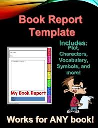 Book Report Template Any Book