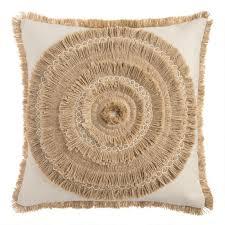 raffia indoor outdoor throw pillow