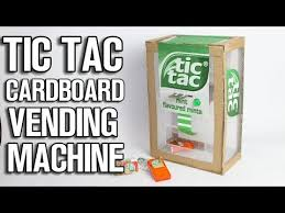 Cardboard Vending Machine Gorgeous TIC TAC Cardboard Vending Machine DIY YouTube
