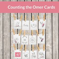 Chart For Counting The Omer Counting The Omer Printable Cards 2017