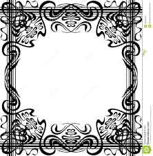 flourishes border stock vector image 40922534 Wedding Card Frame Border Vector royalty free vector Black Vector Border Frame
