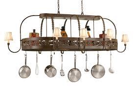 pot rack with lights new lighted hanging racks you ll love wayfair regard to 8