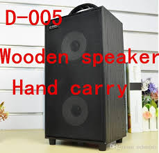 speaker rh d005 bluetooth stereo subwoofer double loudspeaker 3d tf card 2 1 channel wooden dancing hiking camping mountainers outdoor pyle speakers speaker