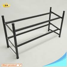 Powder Coating Rack Cheap Price 100 Tiers Powder Coating Metal Shoe Rack Extendable Shoe 84