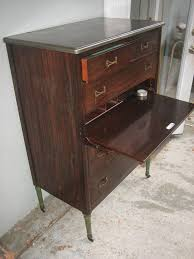 vtg 1940 50s simmons furniture metal medical. Vintage Simmons Steel Dresser Metal Chest Industrial 1940\u0027s Secretary Desk Deco Vtg 1940 50s Furniture Medical A