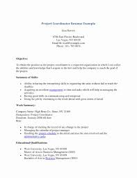 Sample Resume For Project Coordinator In Construction Inspirationa