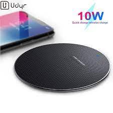 Udyr kablosuz şarj xiaomi mi note 10 mi 9 için hızlı şarj İstasyonu iPhone  11 Pro X 8 artı airpods pro chargeur sans fil|Kablosuz Şarj Cihazları