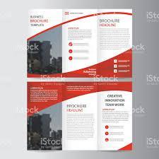 red elegance business trifold business leaflet brochure flyer 1 credit