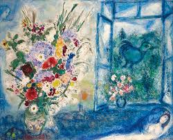 painted from 1959 to 1960 bouquet près de la fenêtre by marc chagall 1887 1985 has been identified as one of the finest flower paintings of this period