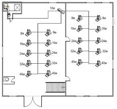 Курсовая работа Проектирование локальной вычислительной сети  Рис 7 Схема расположения компьютеров и прокладки кабеля на 1 этаже