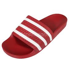 Details About Adidas Performance Adilette Red White Mens Sports Sandals Slides Slippers 288193