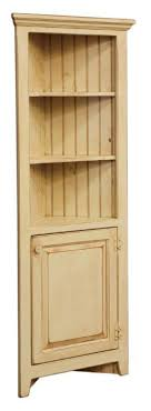 small corner furniture. small amish corner hutch cabinet in pine wood furniture