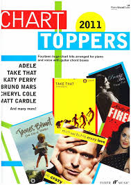 Chart Toppers Of 2011 Sheet Music Gifts Printed Music Piano Chart Toppers