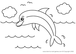 Cute Dolphin Coloring Page At Kids Fun And Games Drinks Dolphin