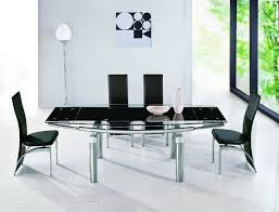 luxor black glass extendable dining table