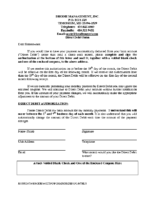 Direct Debit Form Forms | Dreams Landing Condominium