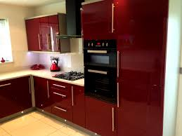 kitchen fitted glass appealing boston red gloss kitchen signature kitchens bathrooms and wh