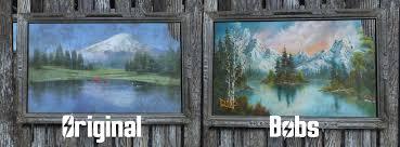 bob ross happy little paintings