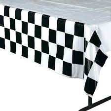round gingham tablecloth round white black checd whole gingham polyester linen picnic