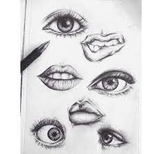 drawing eyes and art image