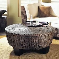 intdoor wicker coffee table with glass top