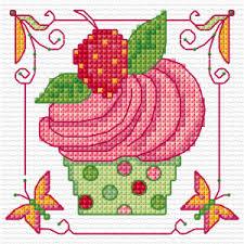 Freebie Spring Cupcake Cross Stitch