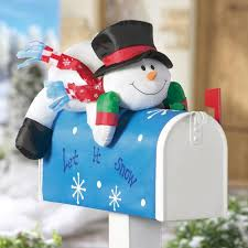 Outdoor Snowman Decorations Christmas Stuffable Plastic Holiday Mailbox: Full Size christmas ornaments. outdoor snowman decorations: