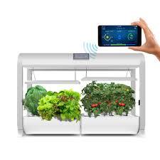 aerogarden aerogarden farm hydroponic garden kit for indoor growing in white