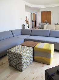 Wondrous Gray Sectional L Sofa Chairs with Beautiful Laminate Floor and  Vivacious White Wall West Elm