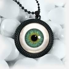 realistic glass eye pendant human doll